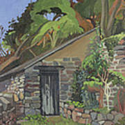 The Shed, Clovelly Oil On Board Art Print
