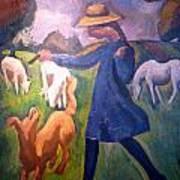 The Shepherdess Art Print