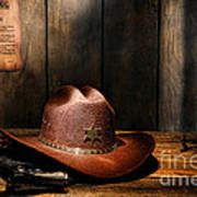 The Sheriff Office Art Print by Olivier Le Queinec