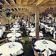 The Ship Cafe Dining Room In Venice Ca 1910 Art Print