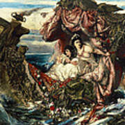 The Shipwreck Of Agrippina Art Print