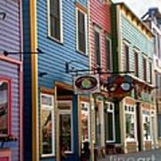 The Shops In Crested Butte Art Print