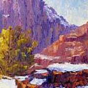 The Side Of The Road At Zion Art Print