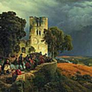 The Siege. Defense Of A Church Courtyard During The Thirty Years' War Art Print