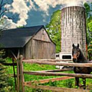 The Silo Horse Art Print