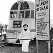 The Silver Streak Train Art Print