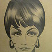 The Sixties And Fashion Hair Art Print