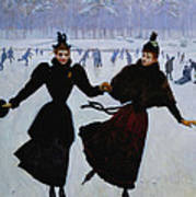 The Skaters Print by Jean Beraud