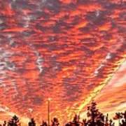 The Sky Is On Fire Art Print