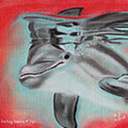 The Smiling Dolphins Of Taiji Art Print