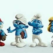 The Smurfs Movie Art Print