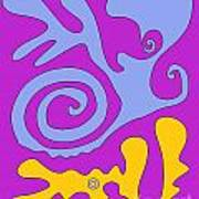 The Snail Adn The Lizard Art Print