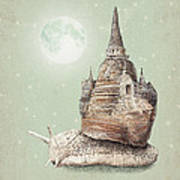 The Snail's Dream Art Print