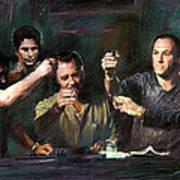 The Sopranos Art Print by Viola El