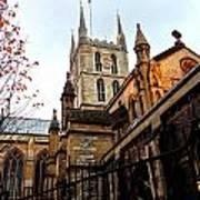 The Southwark Cathedral Church London In Winter Art Print