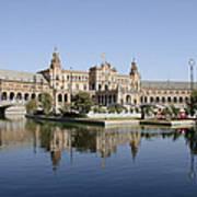 The Spanish Square In Seville Art Print