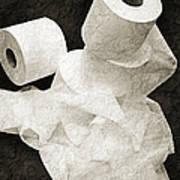 The Spare Rolls 1 - Toilet Paper - Bathroom Design - Restroom - Powder Room Art Print
