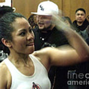The Speed Of Woman's Boxing Champion Ana Julaton Art Print