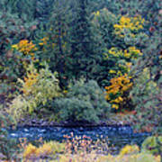 The Spokane River In The Fall Colors Art Print