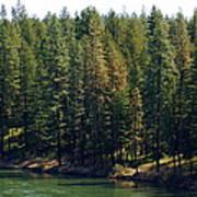 The Spokane River On Easter Sunday 2014 Art Print