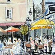 The Square At St. Malo Art Print by Felicity House