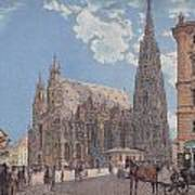 The St Stephen's Cathedral In Vienna Art Print