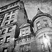 The Stafford Hotel - Grayscale Art Print