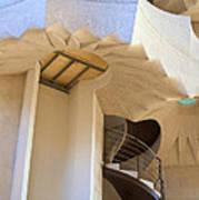 The Staircase Barcelona Art Print