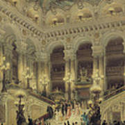 The Staircase Of The Opera Art Print