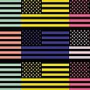 The Star Flag Art Print by Tommytechno Sweden