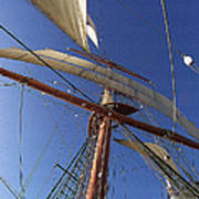The Star Of India. Mast And Sails Art Print