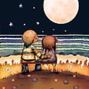 The Stars The Moon And The Tide Art Print by Karin Taylor