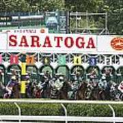 The Start At Saratoga Art Print