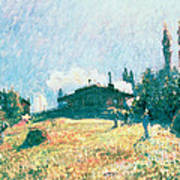 The Station At Sevres Art Print by Alfred Sisley