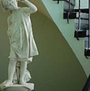 The Statue In The Stairway Art Print