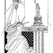 The Statue Of Liberty Art Print