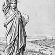 The Statue Of Liberty New York Art Print