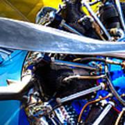 The Stearman Jacobs Aircraft Engine Art Print