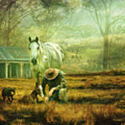 The Stock Horse Art Print by Trudi Simmonds