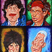 The Rolling Stones Print by Dan Haraga