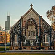The Stranger's Church And Willis Tower Art Print