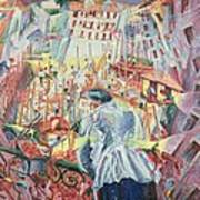 The Street Enters The House Art Print by Umberto Boccioni