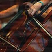 The Stroke Of The Cellist Art Print