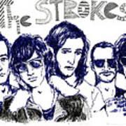 The Strokes Art Print by Mils Gan
