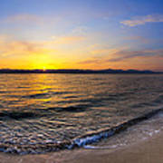 The Sun Rises Over The Red Sea In Egypt Art Print