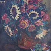 The Sunflower Bouquet Art Print