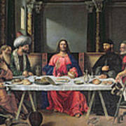 The Supper At Emmaus Art Print by Vittore Carpaccio