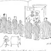The Supreme Court! Well Art Print