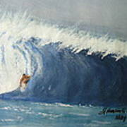 The Surfing Art Print