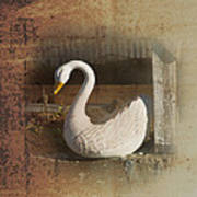 The Swan Planter Art Print